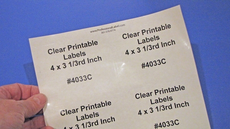 photo relating to Printable Clear Labels identify Shiny Apparent Laser Printable 6 up Labels 50 Sheets 4 x 3.3 4033C