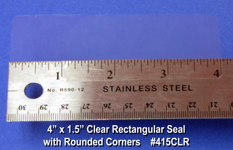 Clear Seal Sticker Labels 4 x 1.5 Inches 500 per roll 415CLR