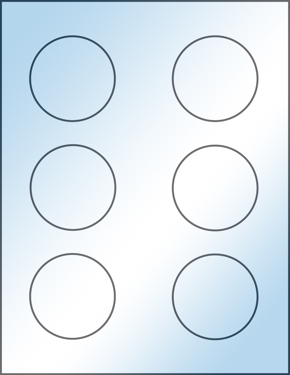 graphic relating to Printable Circle Labels known as Spherical 2.5 inch Apparent Shiny Laser Printable Labels 100 Sheets 4182C
