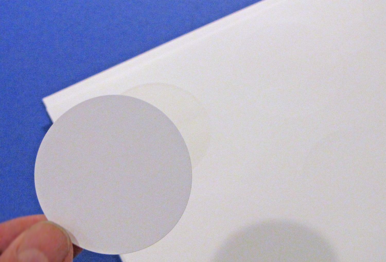 2 Inch Round Matte White Printable Sticker Labels 50