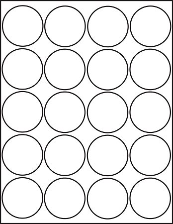 graphic regarding Printable Circle Labels identify Inkjet Shiny White Printable Sticker Labels 50 Sheets 2 Inch Spherical 4220JG
