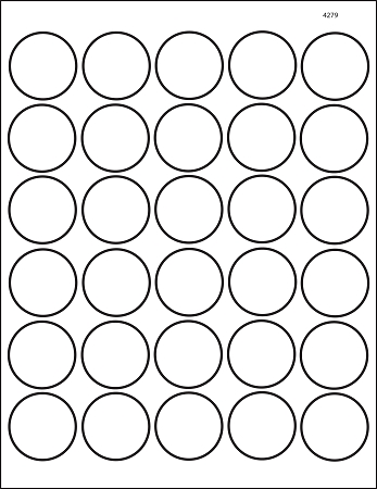 graphic about Printable Label Sheets called Spherical 1 1/2 inch Very clear Shiny Laser Printable Labels 50 Sheets 4279C