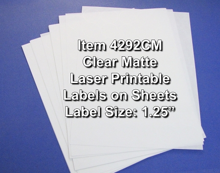 Clear Matte Printable Sticker Labels 50 Sheets 1 25 Inch Round 4292CM