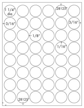 Glossy Clear Printable Sticker Labels 50 Sheets 1 25 Inch
