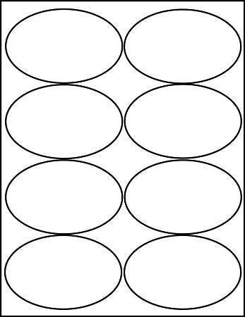 Shocking image with printable oval labels