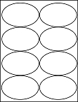 Oval 4 x 2 1/2 inch White Matte Labels 100 Sheets 4319M
