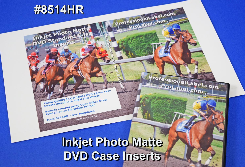 dvd case inserts photo matte high resolution 8514hr 50 sheets