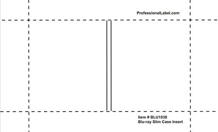 blu ray slim case inserts glossy 25 sheets blu1038