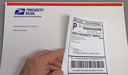 click n ship shipping mailing address labels with receipt 100 sheets