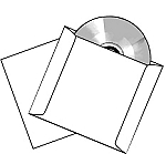 CD DVD Blu-ray 12 Point Cardstock 100 Sleeves 12PTS