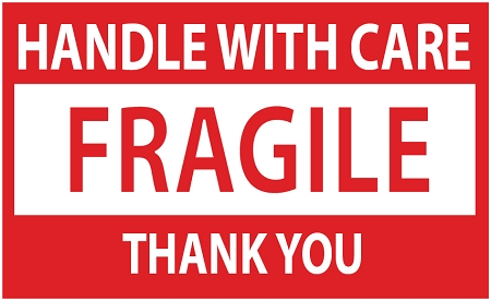 image about Printable Fragile Label named Sensitive Control WITH Treatment Sticker Labels 500 3 X 2 #Sensitive32R