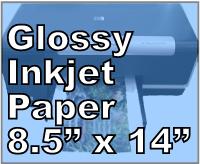 200 sheets Lightweight Inkjet Photo Glossy Paper 8.5 x 14 Legal Size #8504JG