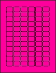 3/4 x 1 Labels Fluorescent Pink 72 per sheet 50 sheets P341