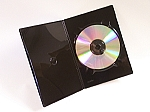 DVD Slim Thin Black Cases with Clear Sleeve 100 #BLK7MM