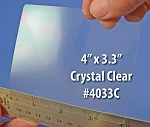 Glossy Clear Laser Printable 6 up Labels 50 Sheets 4 x 3.33 4033C