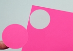 2 Inch Round Pink Fluorescent Sticker Labels 50 sheets P4220