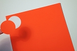 2 Inch Round Red Fluorescent Sticker Labels 50 sheets R4220