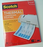 Scotch Thermal Laminating Pouches 3 Mil 100 Count TP3854-100
