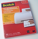 Scotch Thermal Laminating Pouches 5 Mil 100 Count TP5854-100