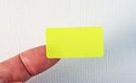 Fluorescent Yellow Labels 1 5/8 x 7/8 C15878
