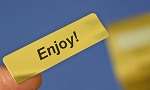 ENJOY! 400 Gold Foil Label Stickers #ENJOYG