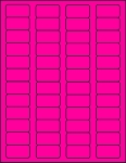 1 5/8 x 7/8 Fluorescent Pink Labels  50 sheets P15878-50