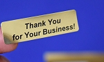 Thank You for Your Business! Gold Foil 400 Label Stickers #TYFYBG