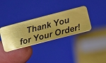 Thank You for Your Order! Gold Foil 400 Label Stickers #TYFYOG