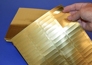 "Gold Foil 1 3/4"" x 1/2"" Laser Labels 25 sheets 80 per sheet #1705GF"
