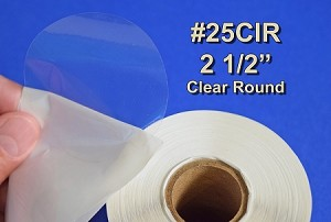 2 1/2 inch Round Clear Circle Seal Label Sticker 500 25CIR