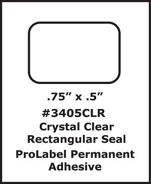 Clear Seal Sticker Labels .75 x .5 Inches 500 per roll 3405CLR