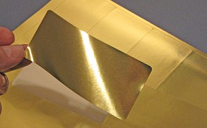 Gold Foil Labels 4 x 2 Rectangular Laser  25 sheets 4020GF