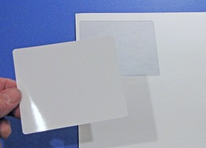 4 x 3 1/3 Shipping Labels Inkjet Photo Glossy White 50 sheets 4033JG