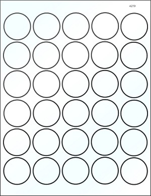 Round 1 1/2 inch Clear Glossy Laser Printable Labels 50 Sheets 4279C