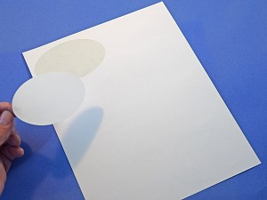 Oval 4 x 2 1/2 inch White Matte Labels 25 Sheets 4319M