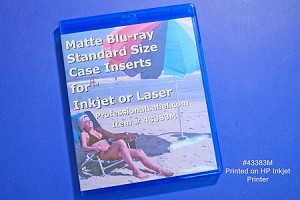 Blu-ray Case Insert Cover Wraps Matte 100 sheets 43383M