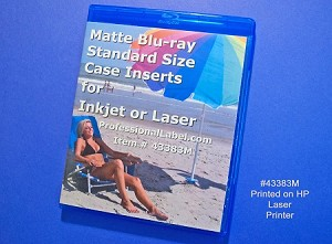 Blu-ray Case Insert Cover Wraps Matte 50 sheets 43383M