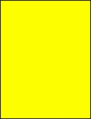 8 1/2 x 11 Full Sheet Fluorescent Yellow Labels 50 sheets C8511