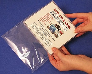 CD Jewel Case Shrink Wrap 100 OPP self-seal bags CD104MM