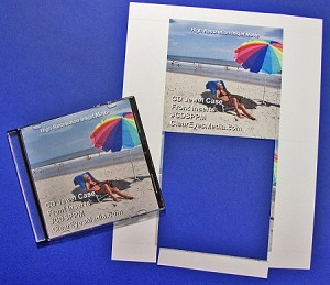 CD Jewel Case Glossy Insert Single Panel 100 sheets CJG912CP