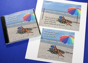 CD Jewel Case Matte Laser or Inkjet Inserts Front, Back 25 Sheets CDSET