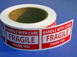 FRAGILE HANDLE WITH CARE Labels Free Shipping 500 3 X 2  Item FRAGILE32R