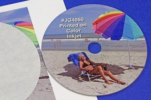CD DVD Blu-ray Full Face Inkjet Gloss Labels 50 sheets #JG4060