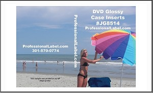 DVD Case Inserts Inkjet Glossy Photo Quality 250 sheets JG8514