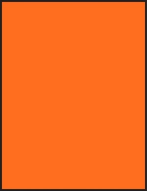 8 1/2 x 5 1/2 Sheet Fluorescent Orange Labels 1000 sheets OR8512-1000
