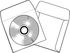 200 CD DVD Blu-ray 8PT Paperboard Sleeves with Window W8PTCD